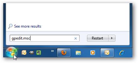 Quitar botones de Apagado y Encendido en Windows 7 1