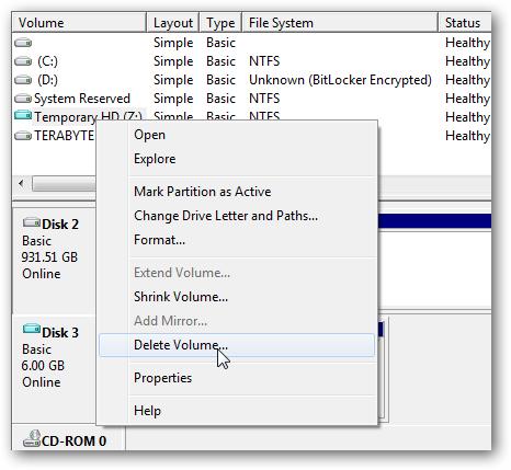 Eliminar un Disco Duro Virtual en Windows 7 2
