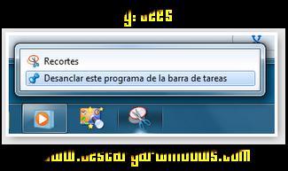 Desanclar aplicación de la barra de windows