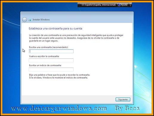Instalación Windows 7 paso 10