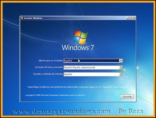 Instalación Windows 7 paso 4
