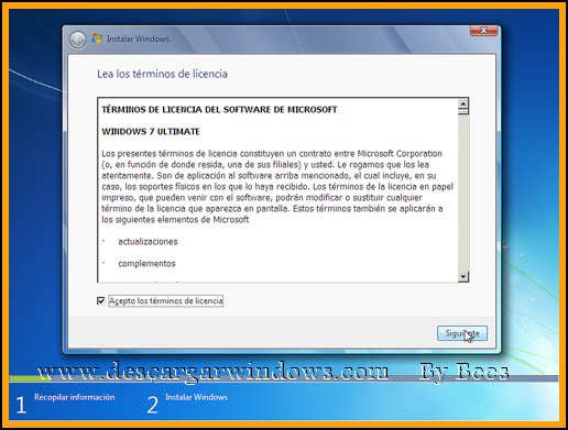 Instalación Windows 7 paso 7