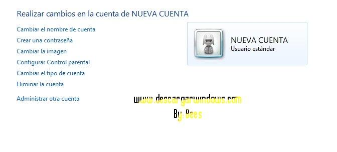 Crear cuenta usuario en Windows paso 5