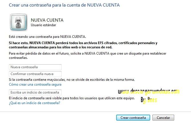 Crear cuenta usuario en Windows paso 7