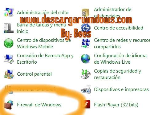 Abrir puertos en Windows paso 1