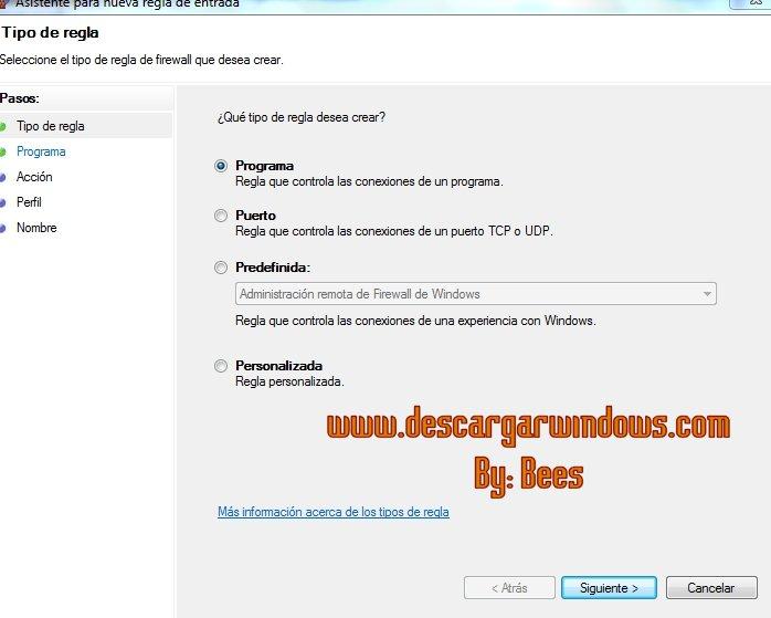 Abrir puertos en Windows paso 4