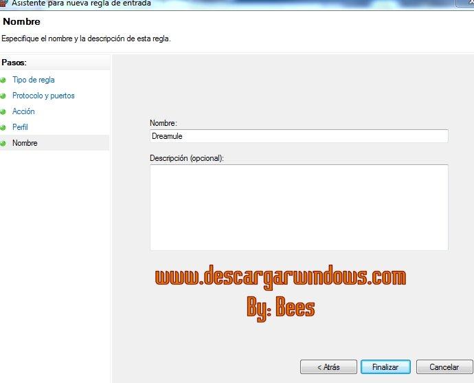 Abrir puertos en Windows paso 7