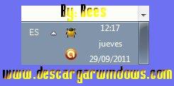 Area de notificaciones Windows 7
