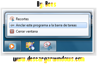 Anclar ventanas a la barra de windows